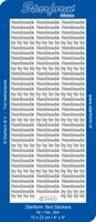 Sticker Starform Engelse tekst  344 Handmade by