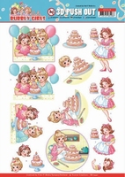 Yvonne Bubbly Girls Party 3D Pushout SB10440 Baking