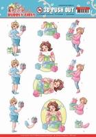 Yvonne Bubbly Girls Party 3D Pushout SB10438 Decorating