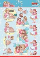 Yvonne Bubbly Girls Party 3D Knipvel CD11477 Baking