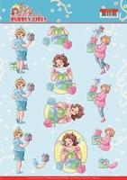 Yvonne Bubbly Girls Party 3D Knipvel CD11475 Decorating