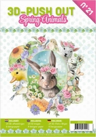 A4 Push Out Book 3D PO10021 Spring Animals