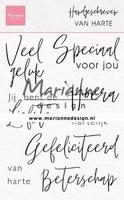 MD Clear Stamps CS1049 Handgeschreven - van Harte