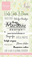 MD Clear Stamps CS1043 Marleen's Hallo Lente & Pasen