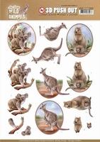 Amy Wild Animals Outback 3D Pushout SB10442 Kangaroo/koala