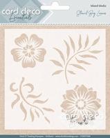 Card Deco Essentials Mixed Media Stencil CDEST008 Big Leaves
