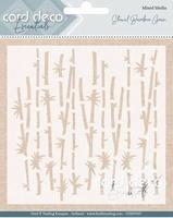 Card Deco Essentials Mixed Media Stencil CDEST007 Bamboo