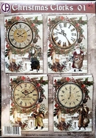 Creatief Art RE2530-0103 Christmas Clocks 02