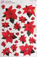 A4 Stansvel Foiled Decoupage ANT157900 Poinsettia metallic