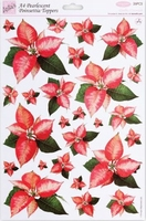 A4 Stansvel Foiled Decoupage ANT157903 Poinsettia pearle.