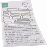 MD Clear Stamps CS1059 Teksten Telefoonberichten
