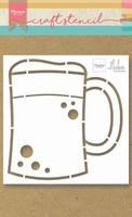 MD Craft Stencil PS8063 Beer mug/bierpul by Marleen