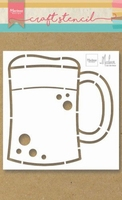 MD Craft Stencil PS8063 Beer mug/bierpul by Marleen