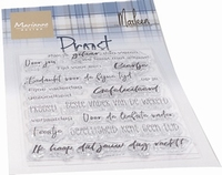 MD Clear Stamps CS1056 Teksten Proost by Marleen