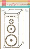 MD Craft Stencil PS8062 Music speaker by Marleen