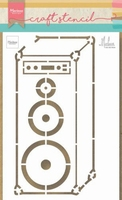 MD Craft Stencil PS8062 Music speaker by Marleen