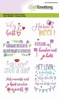 CraftEmotions A6 clearstamps 1332 Quotes - volg je hart,....