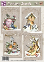Creatief Art RE2530-0102 Reddy Christmas Animals 03 Vogels