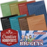 Yvonne Big Guys Workers CHSTS002 Creative Hobbydots Stickers