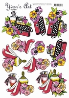 3D Knipvel Yvon's Art CD11524 Handbag Perfume