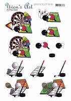 3D Knipvel Yvon's Art CD11507 Sporting