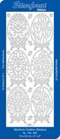 Sticker Natuur Starform  899 Grote bloemen in ovaal