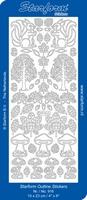 Sticker Natuur Starform  916 Herfst/boom/paddestoel/eekhoorn