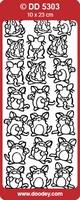 Sticker Kind Doodey DD5303 Grappige muizen