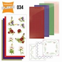 Sparkles Set 34 SPDO034 Delicate Flowers Poppy