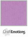 CraftEmotions A4 linnenkarton 1145 viooltjes-lila