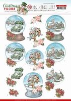 Yvonne Christmas Village 3D PushOut SB10476 Globes