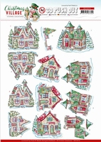 Yvonne Christmas Village 3D PushOut SB10474 Houses