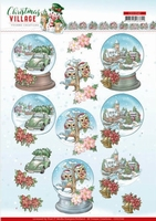 Yvonne Christmas Village 3D Knipvel CD11542 Globes