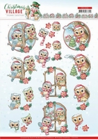 Yvonne Christmas Village 3D Knipvel CD11541 Owls
