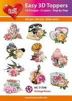 Hearty Crafts Easy 3D Toppers HC11798 Vintage roses