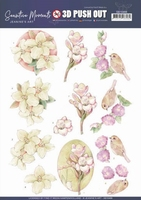Jeanine's Art Sensitive Moments 3D Pushout SB10468 Freesias