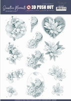 Jeanine's Art Sensitive Moments 3D Pushout SB10467 Grey Rose