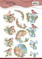 3D Knipvel Jeanine's Art CD1163 Christmas Birds
