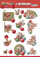 Amy Design Christmas Pets 3D Pushout SB10464 Balls