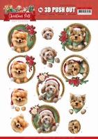 Amy Design Christmas Pets 3D Pushout SB10465 Dogs
