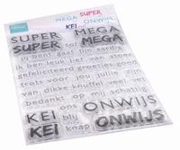 MD Clear Stamps CS1066 SUPER-MEGA-KEI-ONWIJS