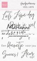 MD Clear Stamps CS1050 Handgeschreven Veel Liefs