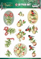 Jeanine's Art Christmas Flowers 3D Pushout SB10478 MistleToe