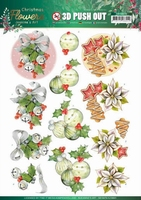 Jeanine's Art Christmas Flowers 3D Pushout SB10479 Bells