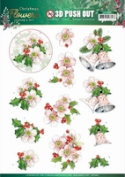 Jeanine's Art Christmas Flowers 3D Pushout SB10481 Pink