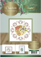 Jeanine's Art Christmas Flowers CB10017 Creative Embroidery