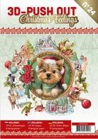 A4 Push Out Book 3D PO10024 Christmas Feelings