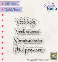 Nellies Choice Clearstempel DTCS024 Veel liefs etc