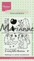 MD Clear Stamps EC0173 Eline's Christmas hedgehogs/egel