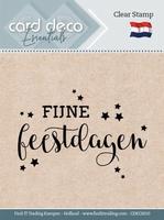 Card Deco Clear stamps CDECS010 Fijne Feestdagen